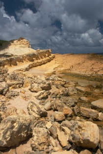 Limestone Cliffs beyond Half Moon Bay